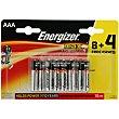 Pilas alcalinas AAA o LR03 Max Blister 12 u  Energizer