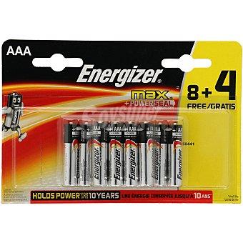 Energizer Pilas alcalinas AAA o LR03 Max Blister 12 u