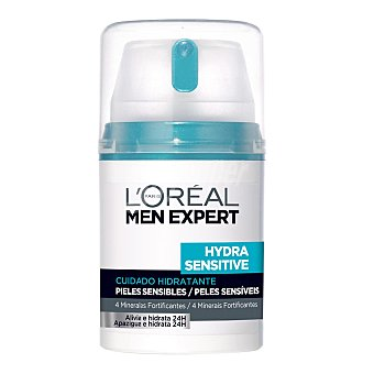 Men Expert L'Oréal Paris Cuidado hidratante 24 h piel sensible Hydra Sensitive Frasco de 50 ml