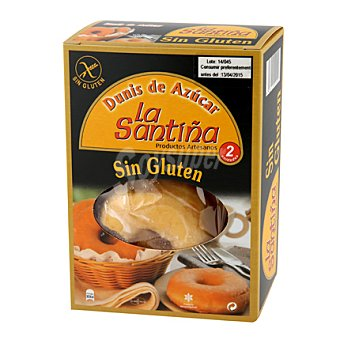 La Santiña Dunis azúcar - Sin Gluten Pack de 2x50g