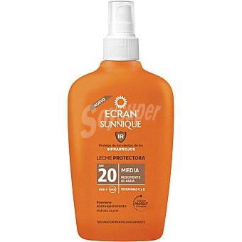 Ecran Lemonoil Broncea y protege spray protector con viitamina C y E FP-20 resistente al agua Spray 200 ml