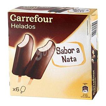 Carrefour Helado bombón con nata pack de 6x38 g
