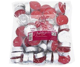 AMBIENT AIR Velas calientaplatos o tealights perfumadas con olor a frutos rojos 50 unidades
