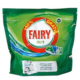 Fairy Lavavajillas todo en uno 14 + 6