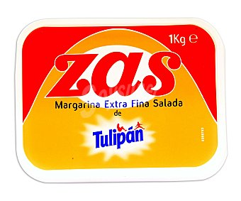 Tulipán Margarina extra fina salada Zas Tarrina 1 kg