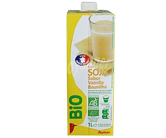 Auchan Bebida de Soja sabor Vainilla Ecológico 1L