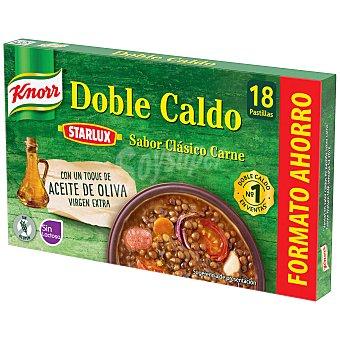 Knorr Doble caldo de carne estuche 18 pastillas Estuche 18 pastillas