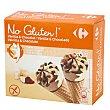 Conos con helado de vainilla y chocolate 6 ud Carrefour-No gluten