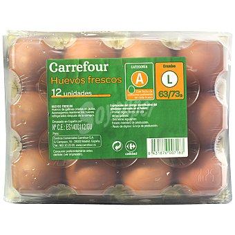 Carrefour Huevos morenos L 12 ud