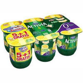 Activia Danone Activia 0% de limón-piña Pack 6x125 g