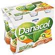 Yogur líquido con sabor tropical, sin azúcar y que ayuda a controlar el colesterol Pack 6 botellines x 100 g Danacol Danone