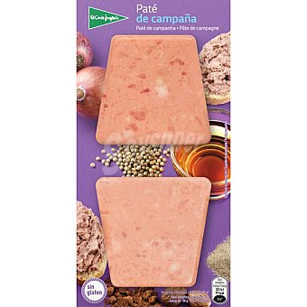 El Corte Inglés Paté de campaña sin gluten pack 2 x 50 G Envase 100 g