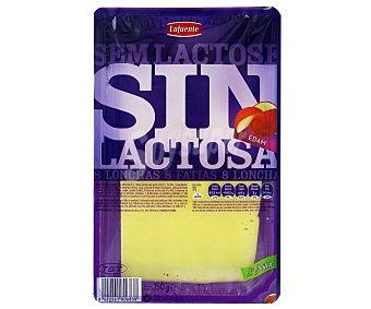 Lafuente Queso edam sin lactosa Bandeja 150 g (8 lonchas)