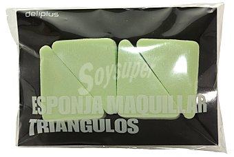 Deliplus Esponja maquillaje triangulos Paquete 4 u