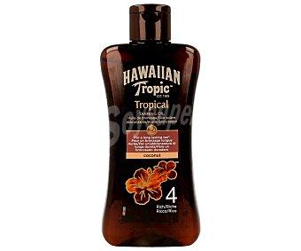 Hawaiian Tropic Aceite bronceador con factor protección 4 (bajo) 200 mililitros
