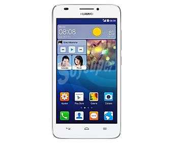 "HUAWEI ASCEND G630 Smartphone libre Blanco, procesador: Quad Core 1,2GHz, Ram: 1GB, almacenamiento: 4GB ampliable mediante microsd, pantalla 5"" 1280x720px, cámara: 8Mp, Android 4.3."