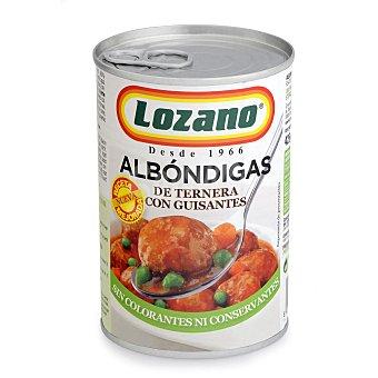 Lozano Albóndigas de ternera con guisantes 425 g