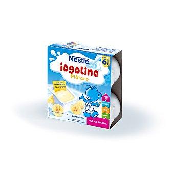 NESTLE IOGOLINO Postre lacteo de platano x100 estuche 400 g pack 4