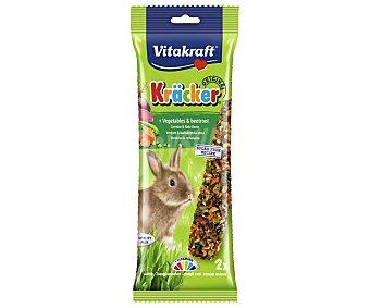 Vitakraft Barritas para conejo con sabor a verduras 2 unidades 112 gramos