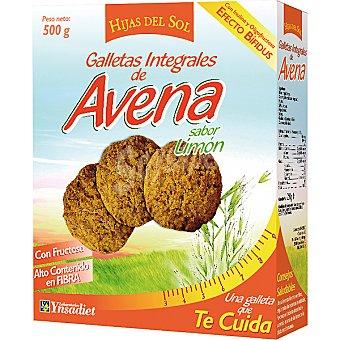 HIJAS DEL SOL Galletas integrales de avena sabor limón Paquete 500 g
