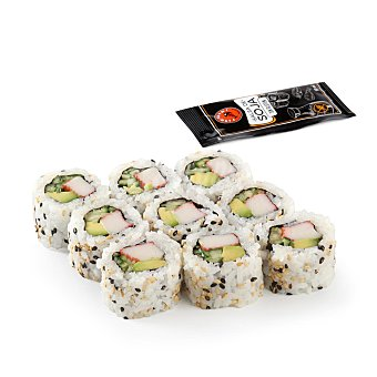 Fish Sushi California roll 9 ud