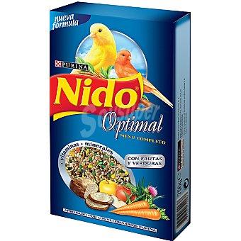 FRISKIES NIDO OPTIMAL Menú completo para canarios con frutas y verduras Estuche 750 g