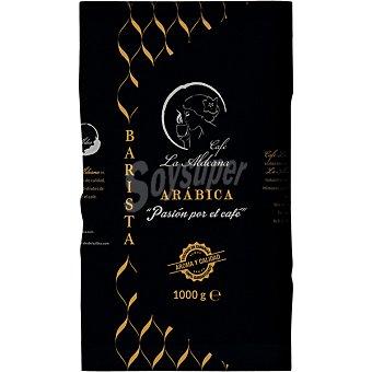 La aldeana Café arábica barista en grano paquete 1 kg paquete 1 kg