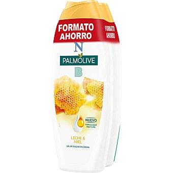 NB Palmolive Gel de baño nutritivo en crema con miel y leche hidratante pack 2 bote 600 ml formato ahorro pack 2 bote 600 ml