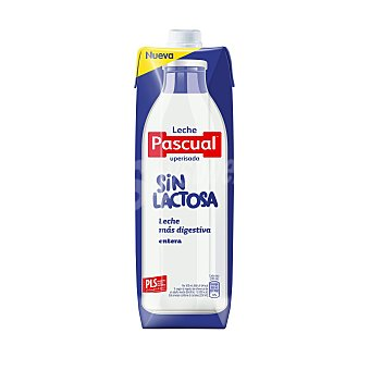 Pascual Leche entera sin lactosa  envase 1 l