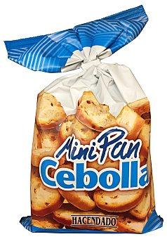 Hacendado Pan tostado blanco biscote mini con cebolla (redondo) Paquete de 170 g