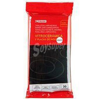 Eroski Toallitas limpia vitrocerámica Paquete 30 unid