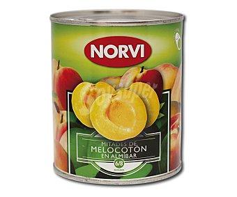 NORVI Mitades de melocotón en almíbar 425 gramos