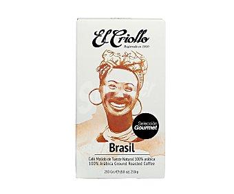 El criollo Café molido Brasil 250 g