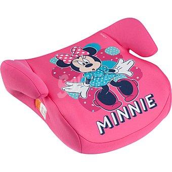 Minnie Asiento elevador para automóvil en color rosa con dibujo de