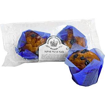Muffins con frutos rojos Bolsa 2 unidades