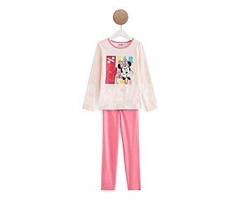 Disney Pijama de algodón para niña Minnie mouse, talla 10.