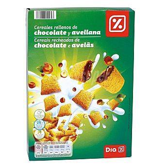 DIA Cereales rellenos de chocolate y avellana Caja 500 g