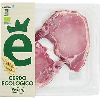 Coren Chuletas de centro de cerdo ecológico 2 unidades peso aproximado Bandeja 250 g