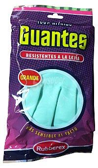 Rubberex Guantes resistente lejía verdes talla grande Paquete de 2 unidades