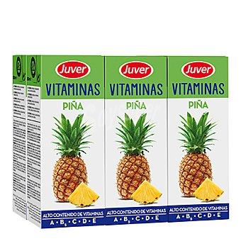 Juver Zumo de piña Vitaminas Pack 6x200 ml