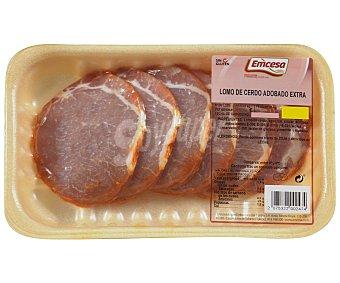 Emcesa Bandeja de cinta de lomo adobada de cerdo, de calidad extra y sin gluten 300 Gramos