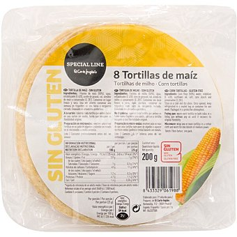 Special Line Tortillas de maíz sin gluten Envase 200 g (8 unidades)