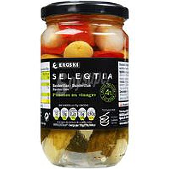 Eroski Seleqtia Banderillas en ceite de oliva Eroski Frasco 160 g