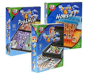 Rik&Rok Auchan Juegos de Viaje, varios modelos, de pequeño tamaño para transportarlos cómodamente 1 Unidad