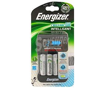 Energizer Cargador Intelligent + 4 pilas AA 2000 mah 1 Unidad