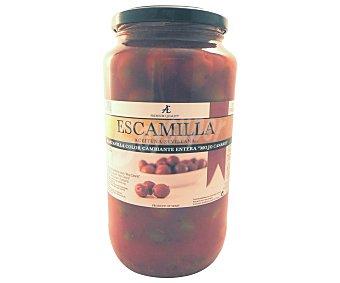 Escamilla Aceitunas verdes manzanilla con mojo canario frasco de 600 grs