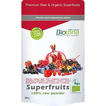 BIOTONA Superfruits cóctel de bayas en polvo antioxidante Bio  envase 200 g