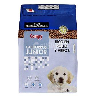 Compy Comida perro seca con pollo y arroz cachorro razas medianas y grandes Paquete 4 kg