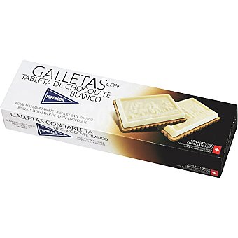 Hipercor Galletas con tableta de chocolate blanco Estuche 125 g