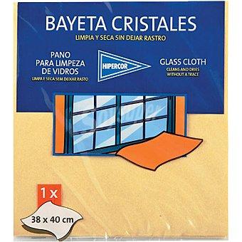 HIPERCOR bayeta cristales 38x40 cm paquete 1 unidad
